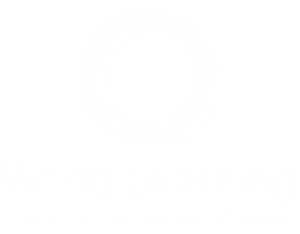 World Learning stacked logo white